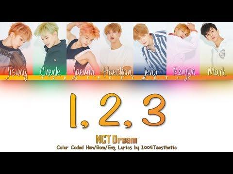 NCT DREAM (엔씨티 드림) - 1, 2, 3 Color Coded Han/Rom/Eng Lyrics