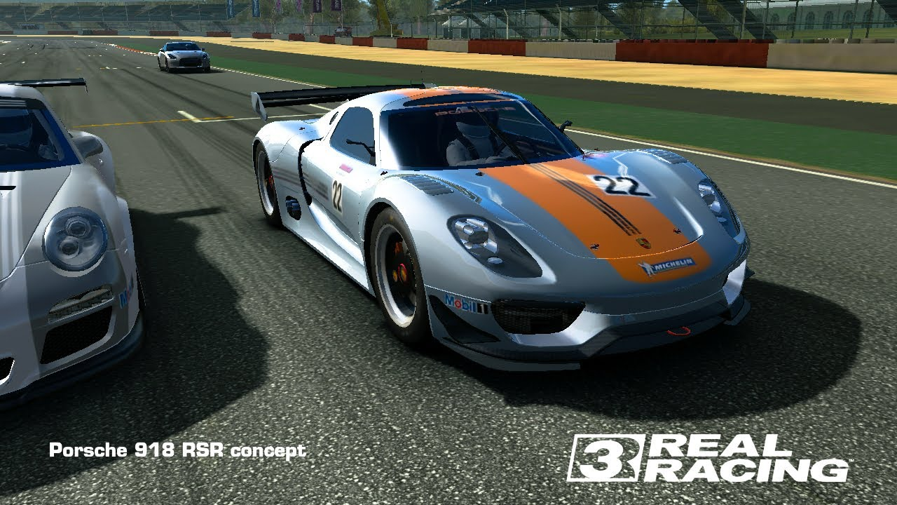 real racing 3 porsche 918 spyder concept cost real racing. Black Bedroom Furniture Sets. Home Design Ideas