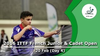 2016 French Junior & Cadet Open - Day 4 LIVE