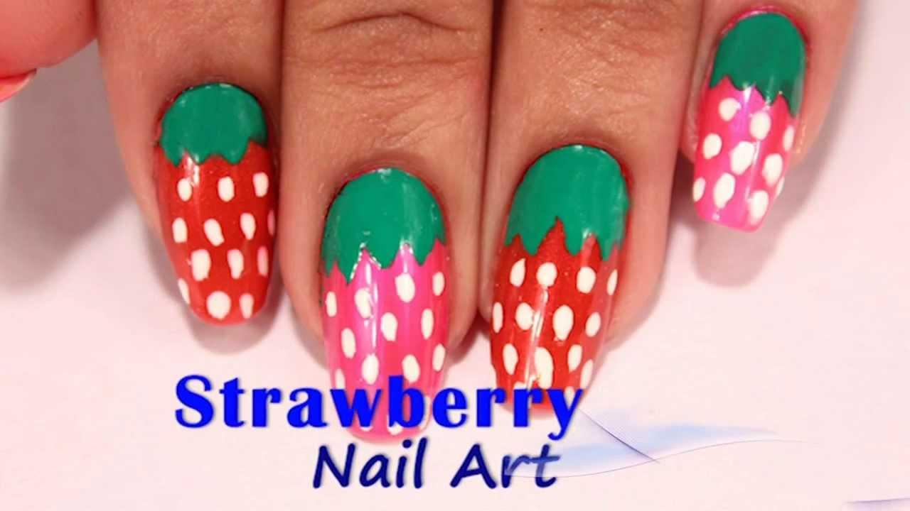 Strawberry Nail Art Design Do It Yourself Khoobsurati Youtube