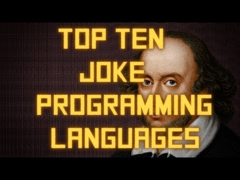 Top Ten Esoteric or 'joke' programming languages