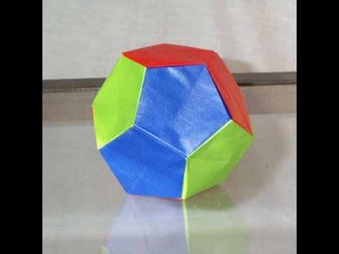 origami dodecahedron instructions youtube
