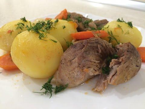 Тушеный картофель с мясом в