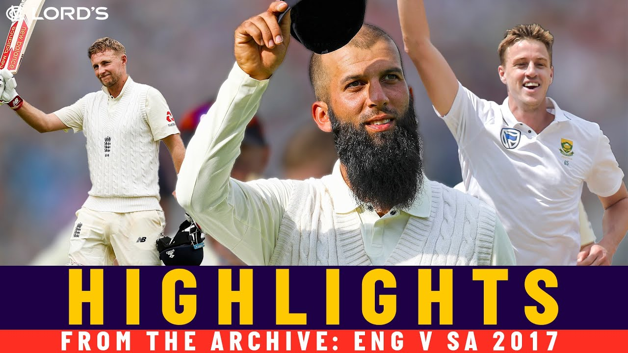 Moeen Ali 10-fer & Root 190 in 1st Test as Captain!     Classic Match   Eng v SA 2017   Lord's