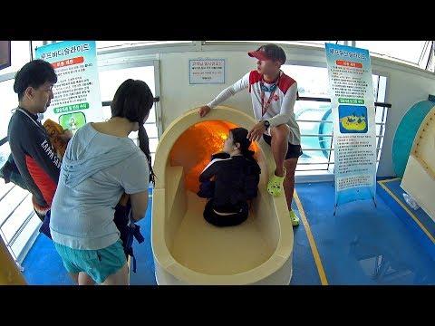 Scary Orange Water Slide at The Ocean Waterpark