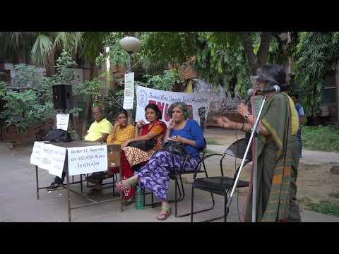 Gargi Chakraborty addressing  the JNU Community on the Dessolution of GSCASH