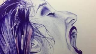Collibrina (dibujo fotorrealista con bolígrafo/photorealistic ballpoint pen drawing)