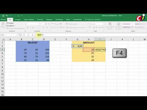 Celverwijzingen in Excel 2016