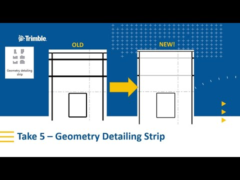 Geometry Detailing Strip for Precast Reveals