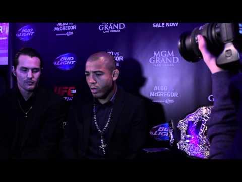 Jose Aldo UFC World Tour Dublin Media Scrum