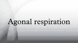 Agonal respiration