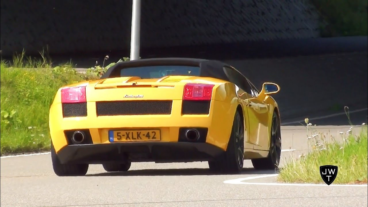 Lamborghini Gallardo V10 Spyder Ride Start Up Sound Accelerations