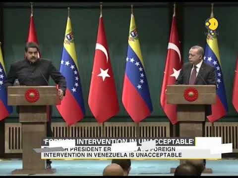 Turkish President slams any foreign intervention in Venezuela