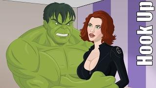Cartoon Hook-Ups: The Hulk and Black Widow