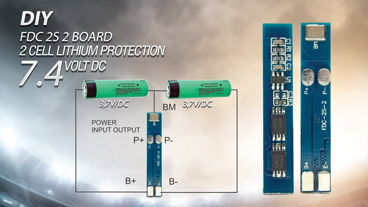 make battery pack 7 4v dc 2 x 18650 and add circuit protection lithium diagram [ 1280 x 720 Pixel ]