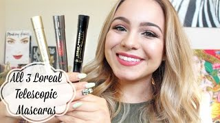 All Loreal Telescopic Mascaras Review & Demo