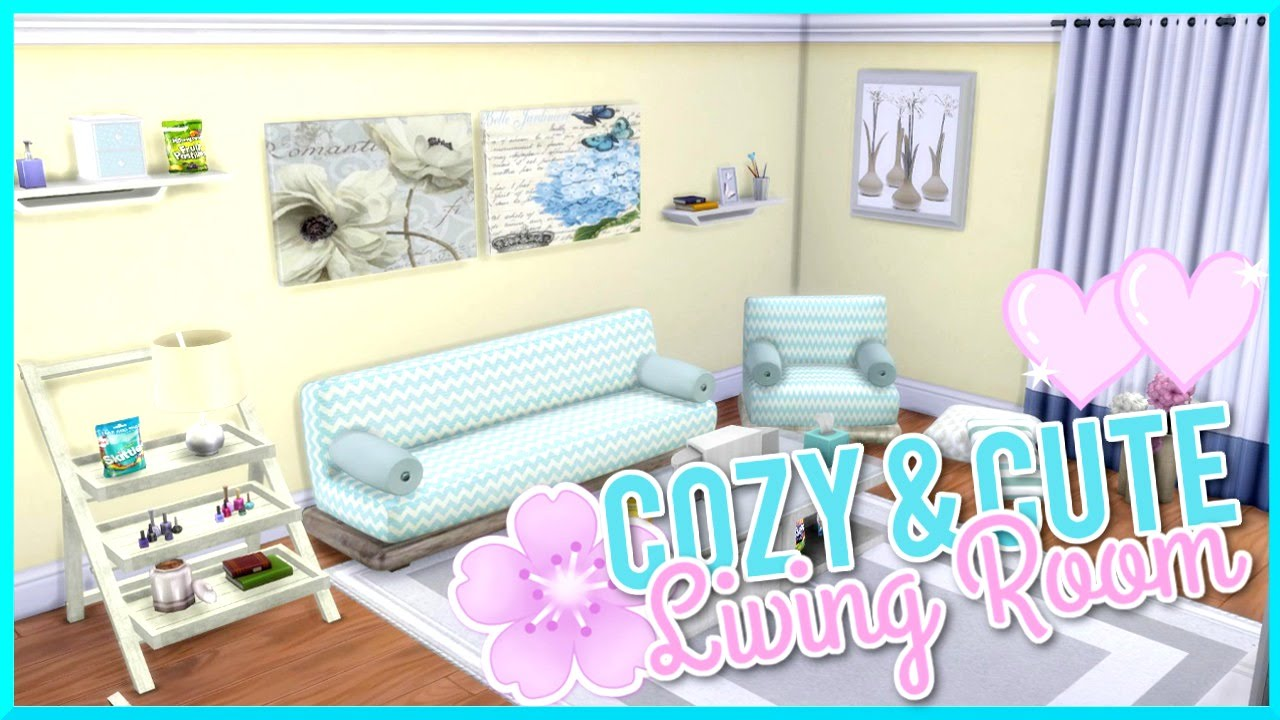 The Sims 4 | Cute & Cozy | Custom Content Living Room - YouTube