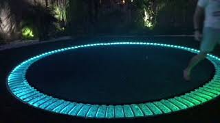 In Ground LED Lighted Trampoline