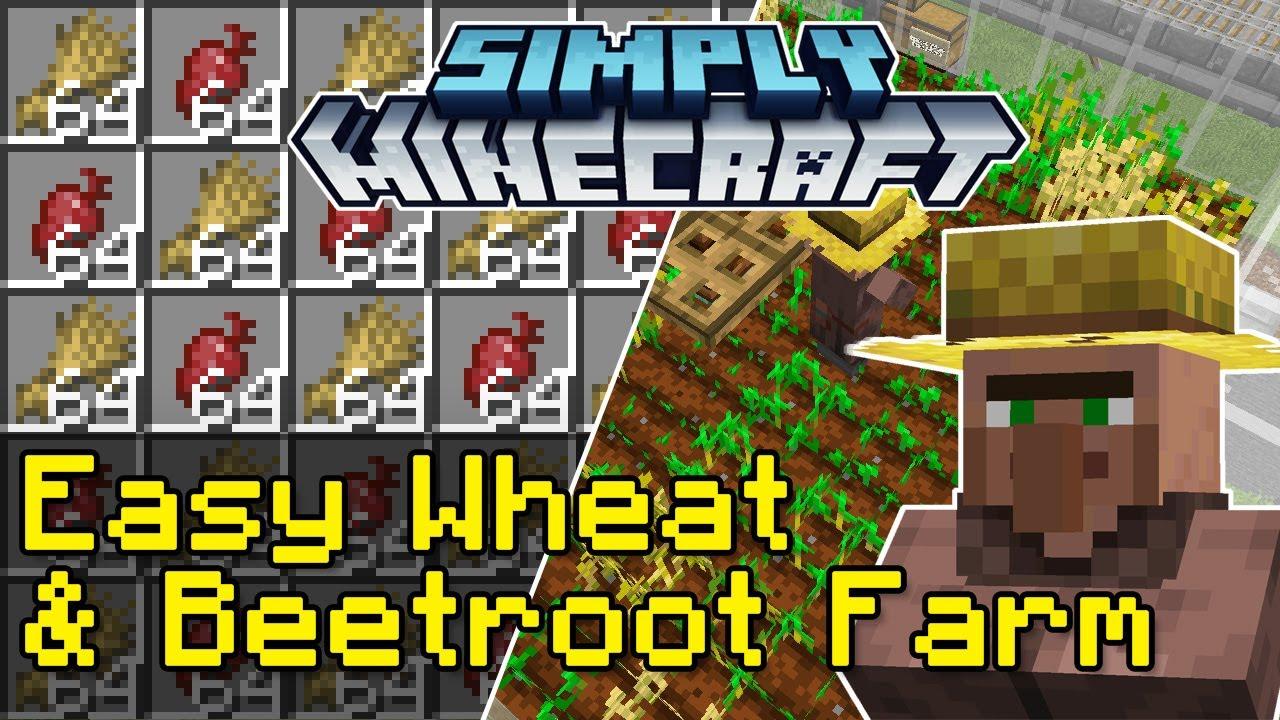 Easy Wheat & Beetroot Crop Farm Tutorial | Simply Minecraft (Java Edition 1.17)
