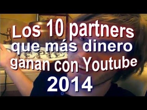 Los 10 partners que más dinero ganan con Youtube en el mundo en 2014 #SEOArticulo