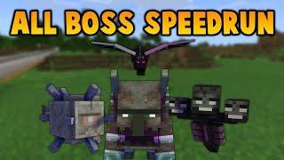 Minecraft: All 4 Boss Speed Run Attempt