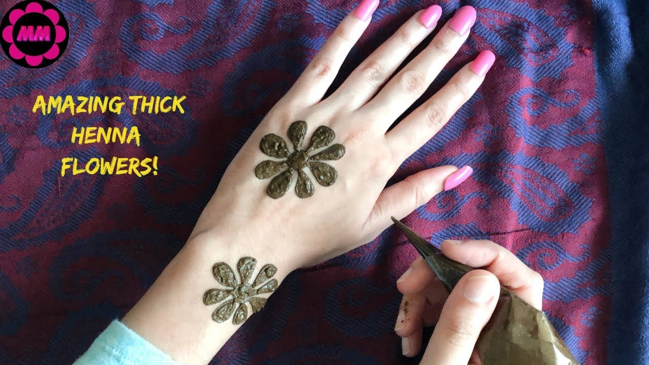 Most Easiest Flower Mehendi Thick And Bold Floral Henna Design