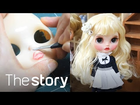 Carving & repainting a Doll's face : Blythe Doll Custom