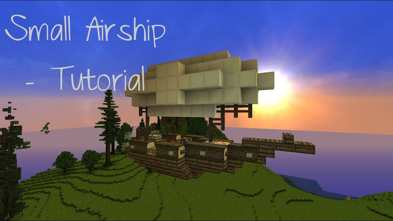Minecraft Small Airship Tutorial YouTube