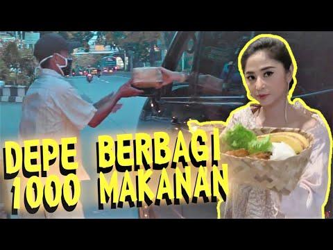 Dewi Perssik Berbagi 1000 Paket Makanan