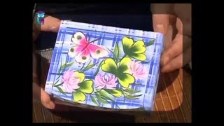 Роспись в технике одного мазка (One Stroke). Рисуем клевер, шмелей и бабочек. Мастер класс