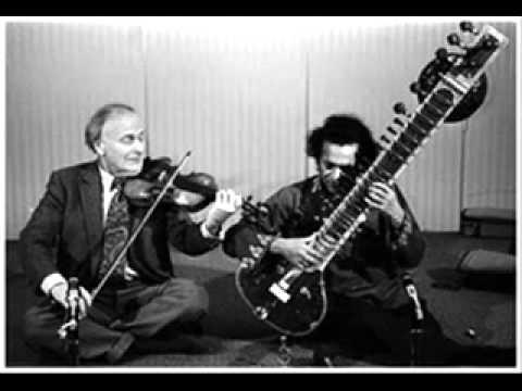 Jugalbandi between Pandit Ravi Shankar and Yehudi Menuhin.