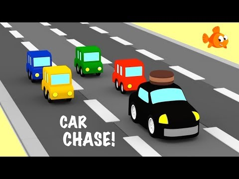 CAR CHASE #3- Cartoon Cars Compilation - Cartoons for kids - Videos for kids - Kids Cartoons