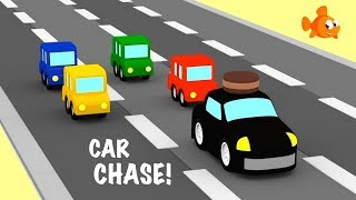 Cartoon Cars Cartoons - Colors and Construction! Car Cartoons for Kids - Kid's Cartoons - Ploop Channel