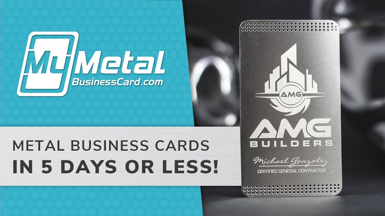 Quick Metal Business Cards - YouTube