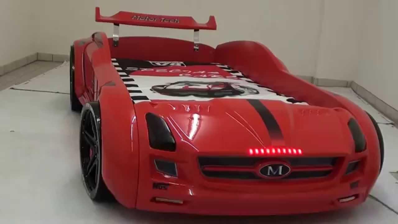Kinder Autobett Roadster rot - YouTube