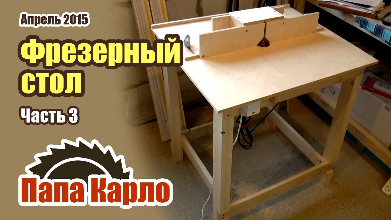 Фрезерный стол для ручного фрезера своими руками - чертеж, видео, инструкции