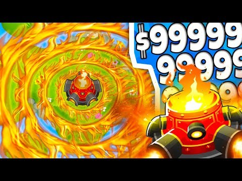 Bloons TD 6   ULTRA BOOSTED RING OF FIRE TOWER (OVERPOWERED)