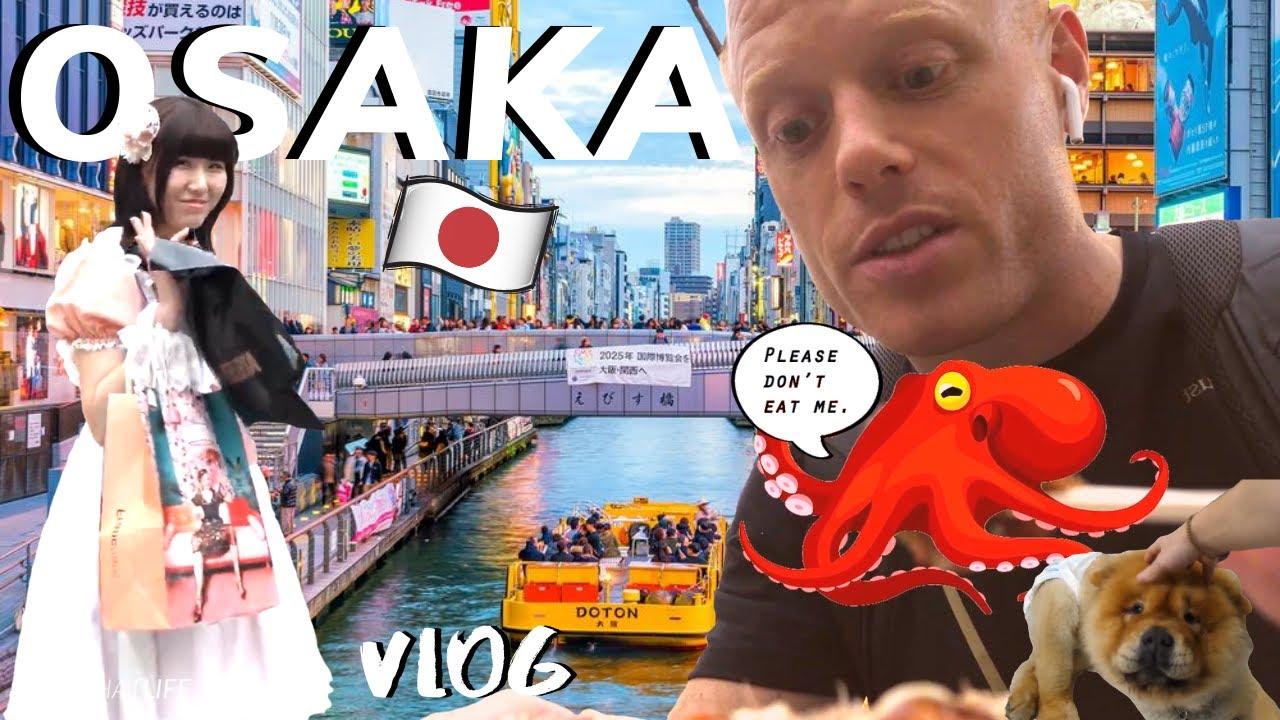 OSAKA JAPAN STREET FOOD Vlog! ?? ? (Takoyaki & Okonomiyaki!)