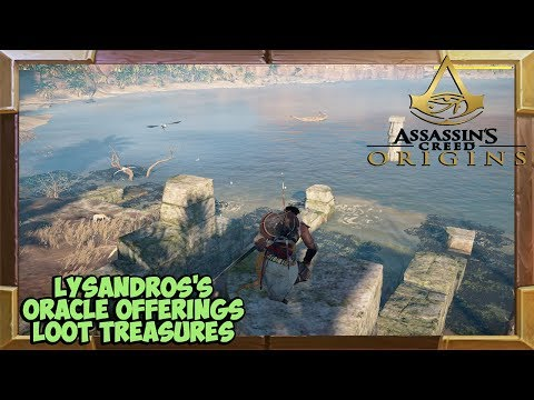 Assassin's Creed Origins Lysandros's Oracle Offerings Treasure Locations