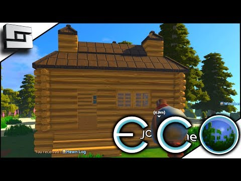 Starter House! Starting Tips! ECO Gameplay - Survival Building Game E2