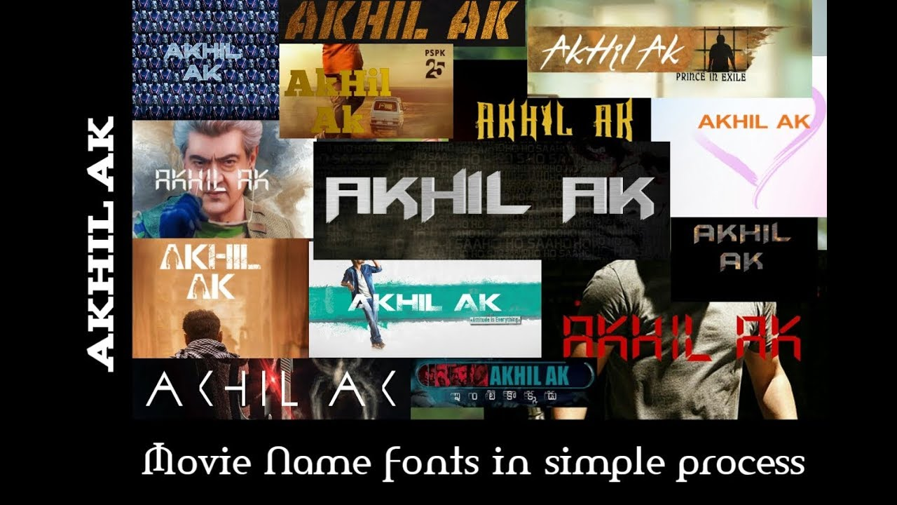 How To Write Our Name In Movie Fonts With Android App