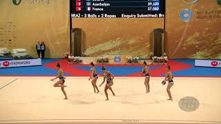 Estonia (EST) - 2018 Rhythmic Worlds, Sofia (BUL) - Qualifications 3 Balls + 2 Ropes