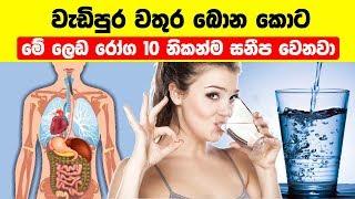 වැඩිපුර වතුර බොන කොට මේ රෝග 10 සනීප වෙනවා - 10 Diseases That Can Be Cured By Drinking Water