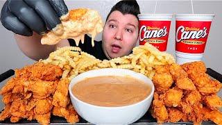 Most Popular Foods Fŗom Raising Cane's • Giant Sauce Bowl, Fried Chicken Fingers, & Fries • MUKBANG