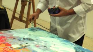 federico Rivera, pintando en vivo.mp4