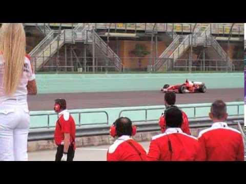 Ferrari F1 Fly-by 2 Homestead-Miami Speedway F1 Cienti