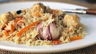Узбекский плов с курицей в казане – Chicken Pilaf(Вкусный плов с курицей - приготовление ароматного блюда из доступных продуктов. Без описания, просто видео...., 2014-08-04T13:08:16.000Z)