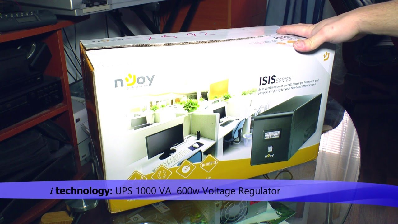 BAD PRODUCT WARNING! Njoy 1000VA UPS - 600w with Voltage Regulator and  power management