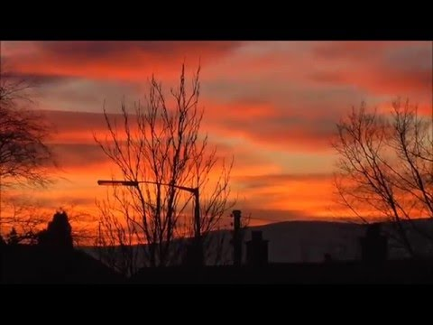 Gilnahirk red sky sunset N. Ireland Weather