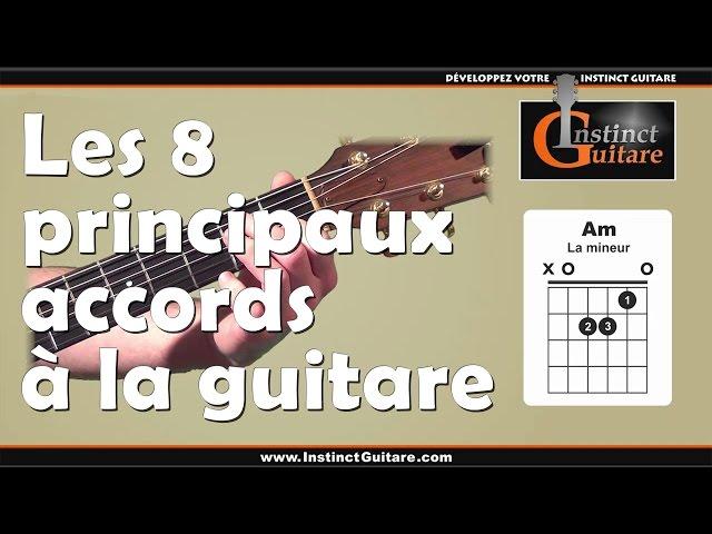 Les 8 principaux accords à la guitare